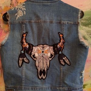 Denim Vest with Patches